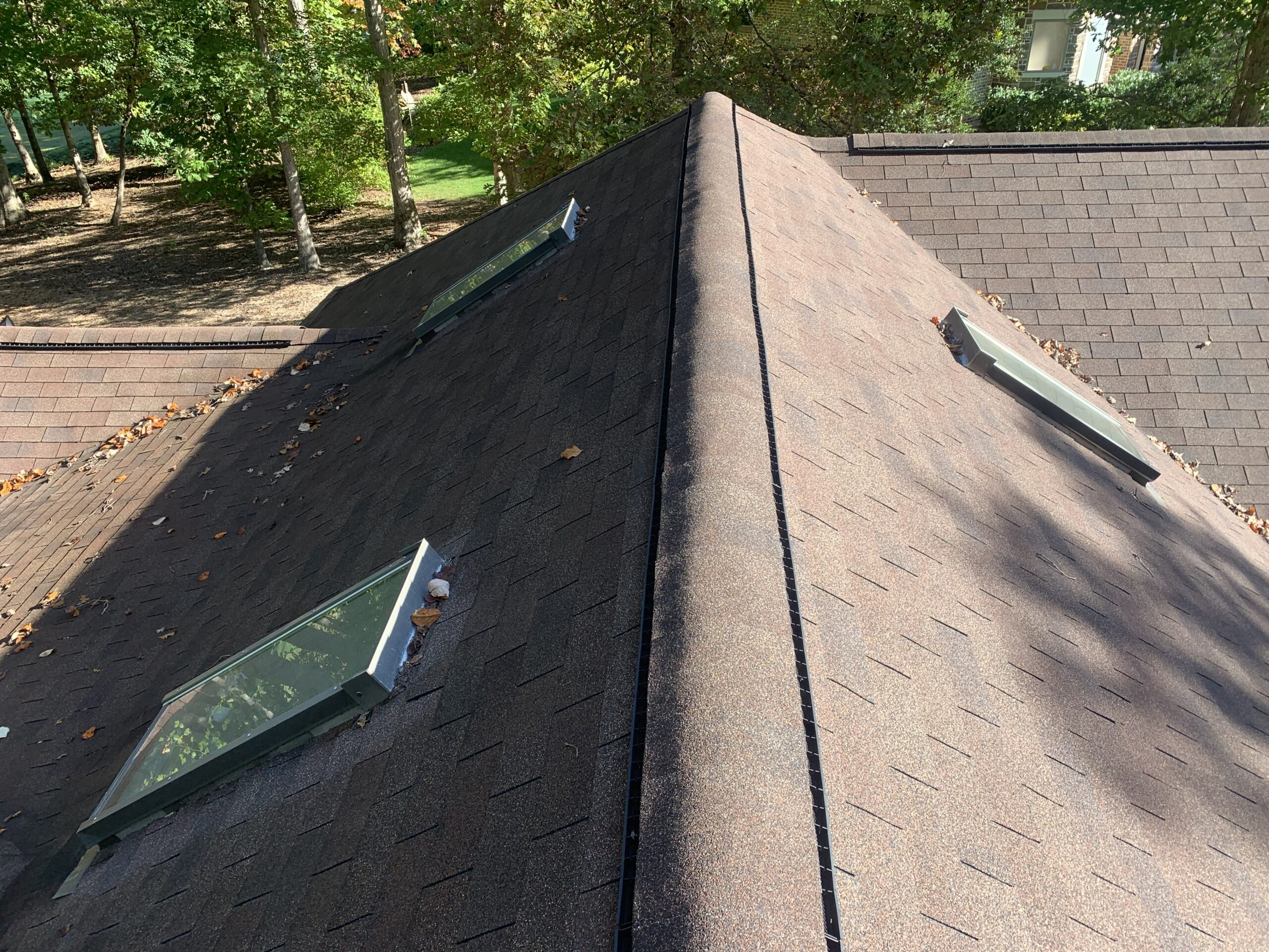 Residential roof inspection with special attention to skylights