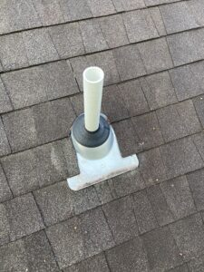 Pipe boot that is leaking on a roof