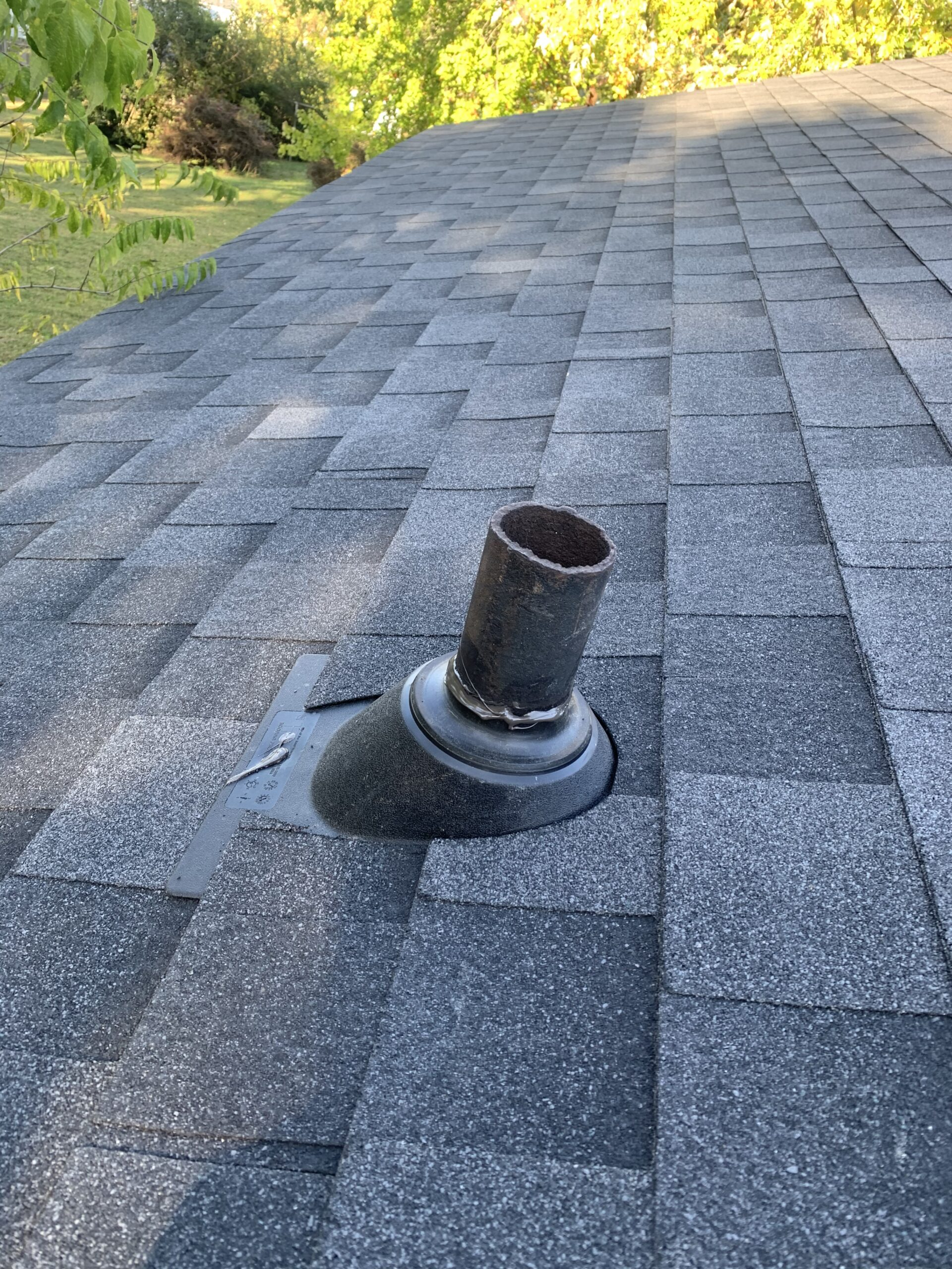 New pipe boots on new roof