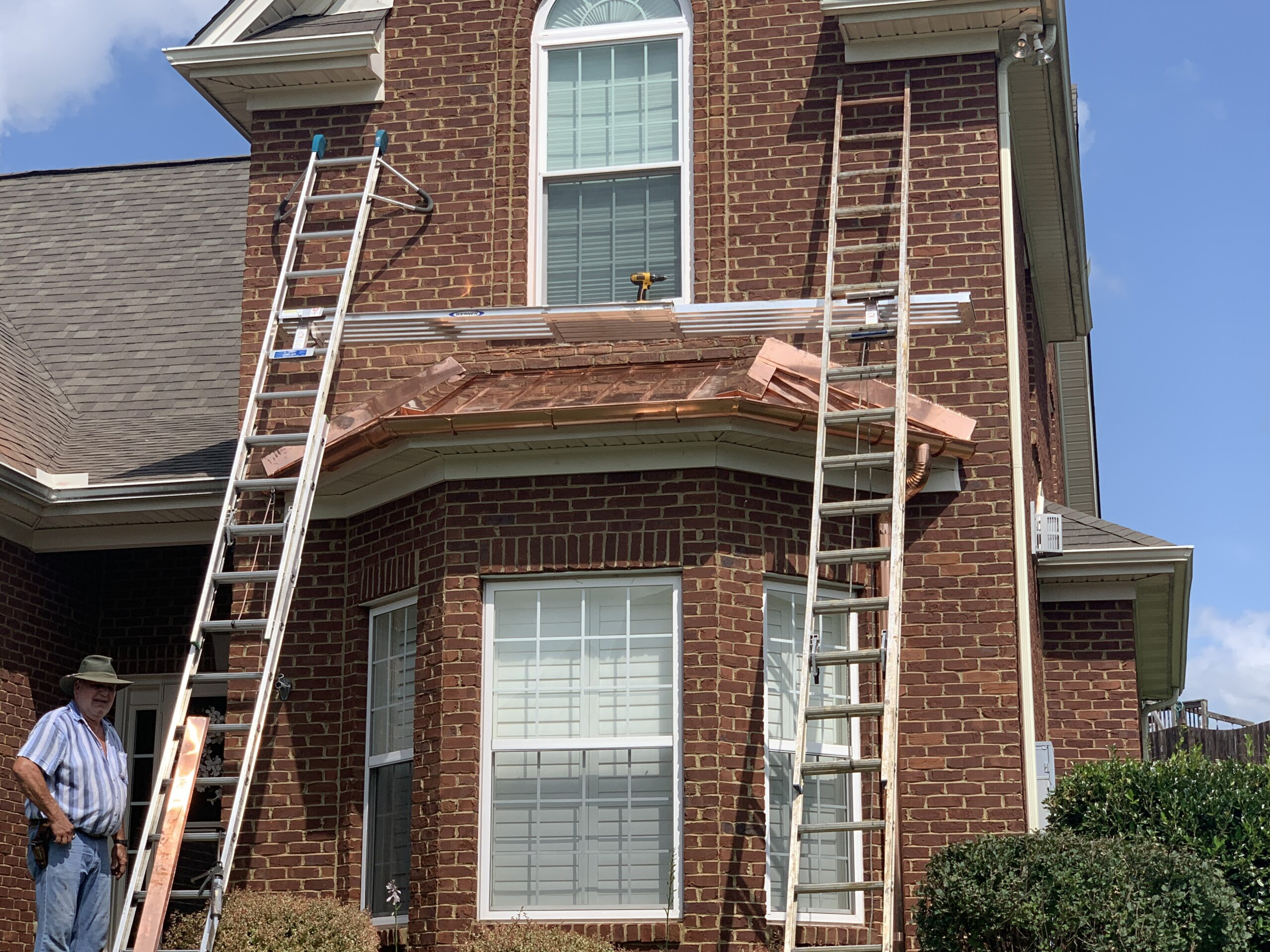 Copper accents added to bed windows or dormers or even eyebrows can add a little stale to anyone's home and greatly increase curb appeal