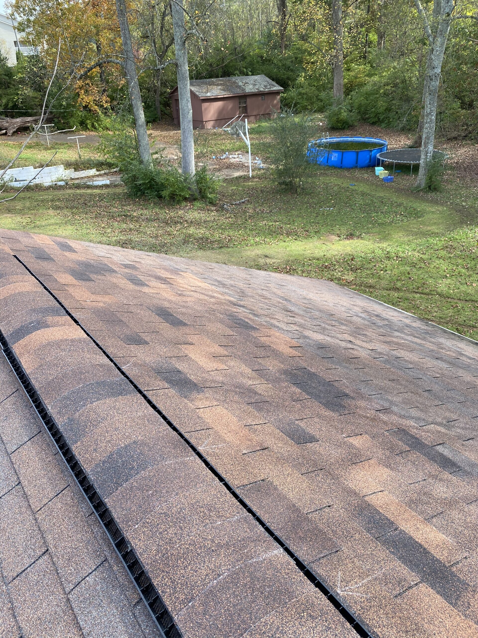 Replaced missing shingles