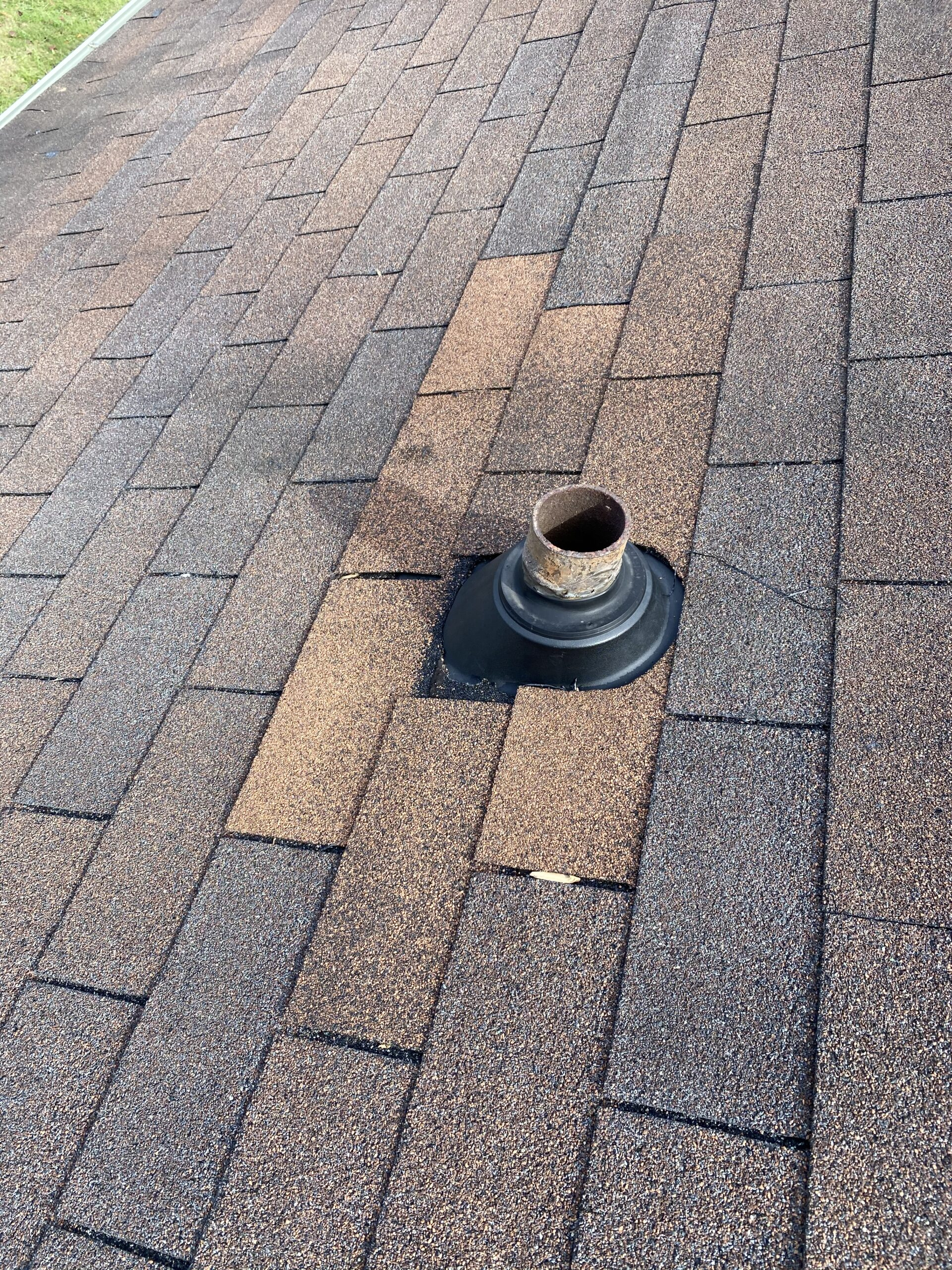 Pipe boot replacement this pipe boot is new and in a brown colored roof