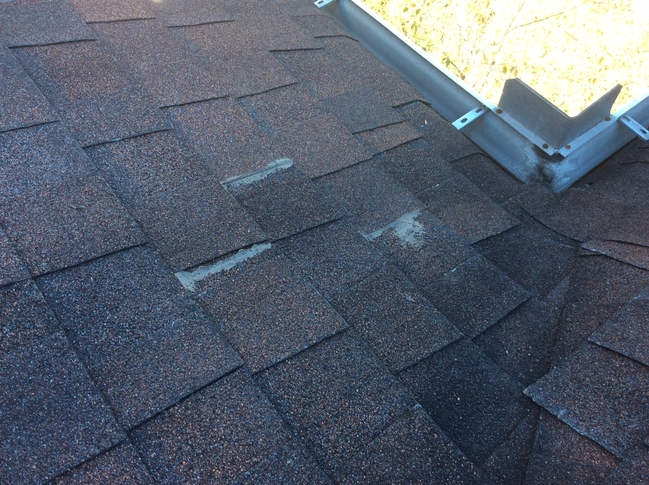 This is a section of shingles that will need to be replaced
