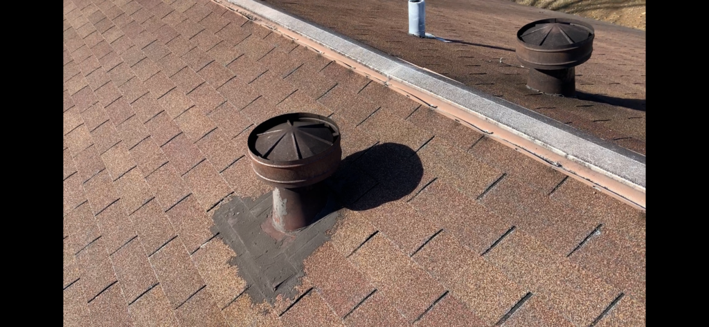 Roof vent patchwork