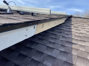 This is a picture of a facia board that was replace for structural reasons during a roofing project that we did in Knoxville Tennessee
