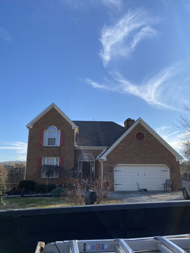 This is a picture of a home with a roof leak