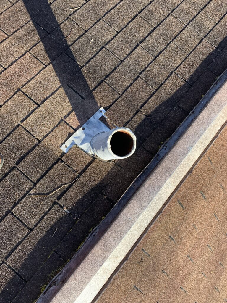 The metal ridge  vent needs new fasteners