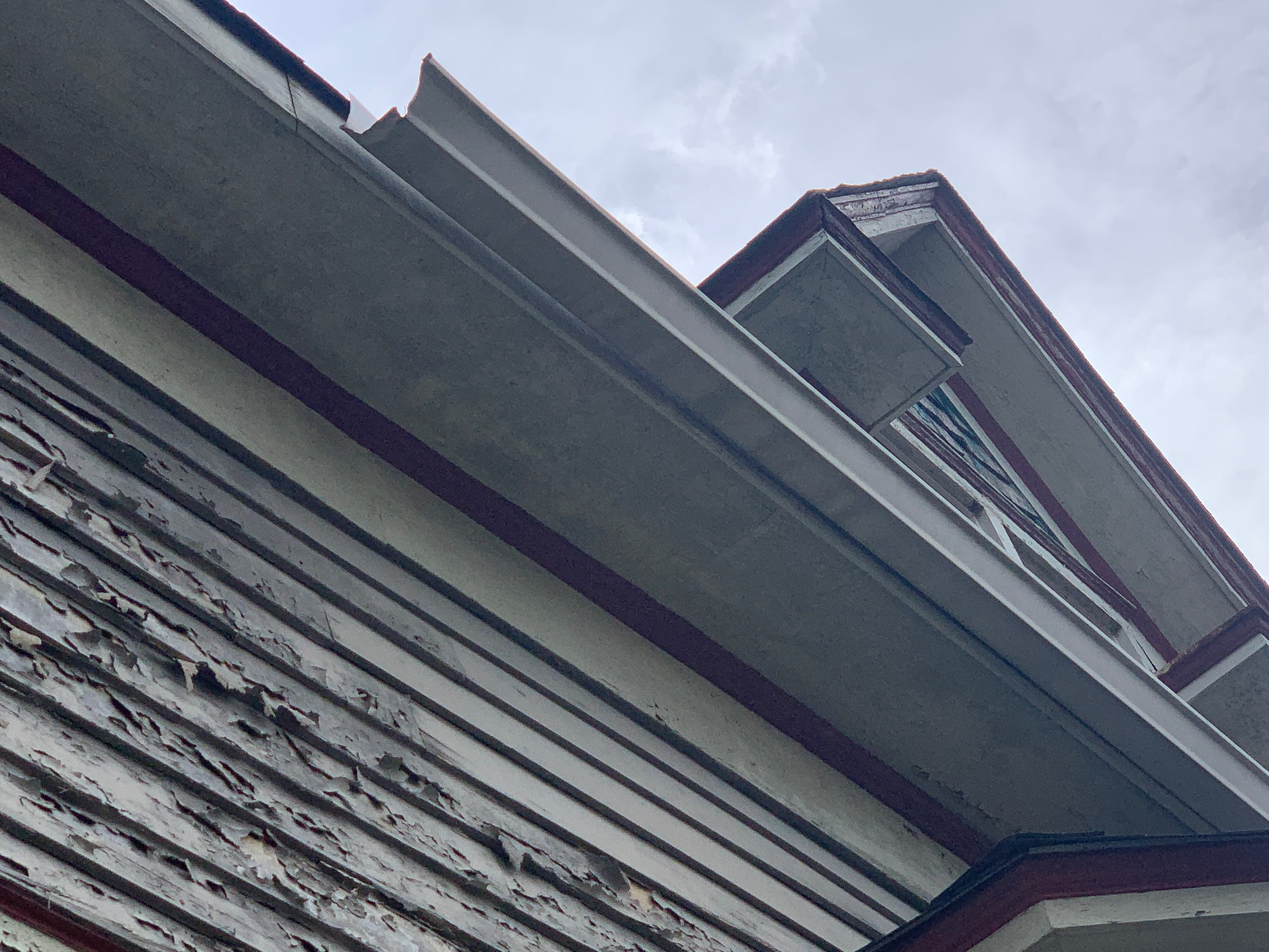 soffits and fascia board on this honme are in need of some minor repairs.  All gutters need replaced