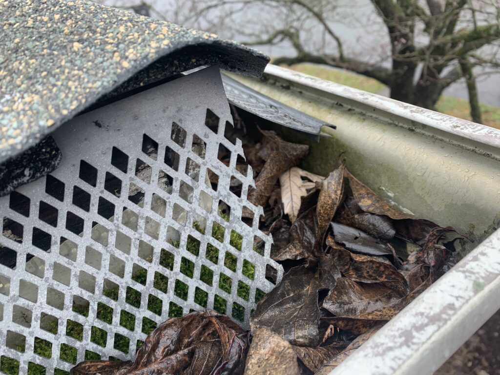 Fall gutters hold extra weight and do not drain properly causing damage to foundations, facia boards eaves and soffits and sometimes even the inside of the structure