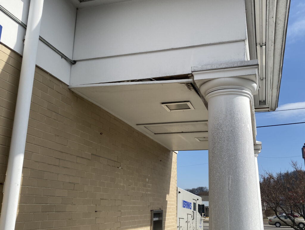 Water leaking behind the gutters done the facia and causing the soffits to begin to fall