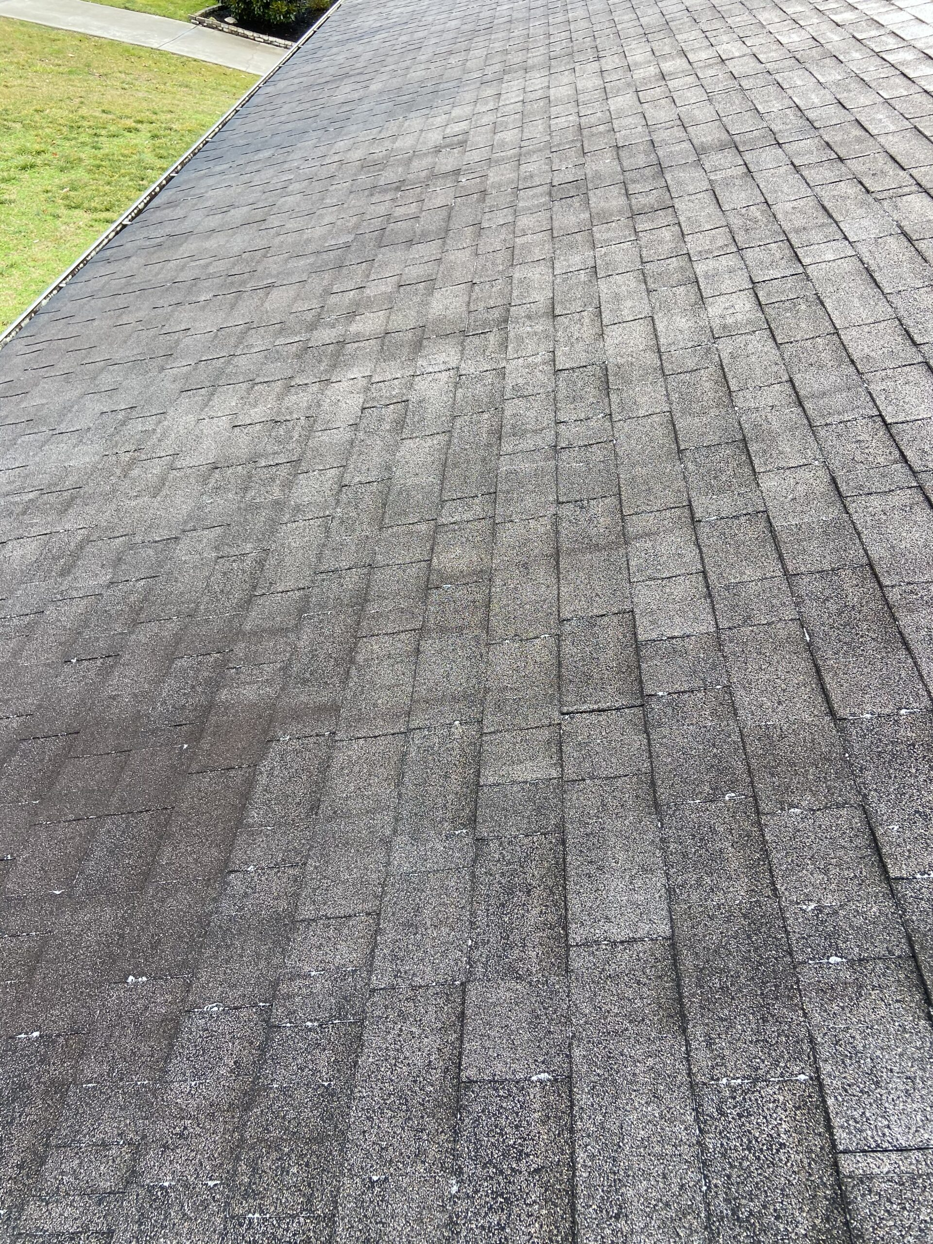 This is a 23-year-old shingle roof that has hail damage in Dandridge Tennessee