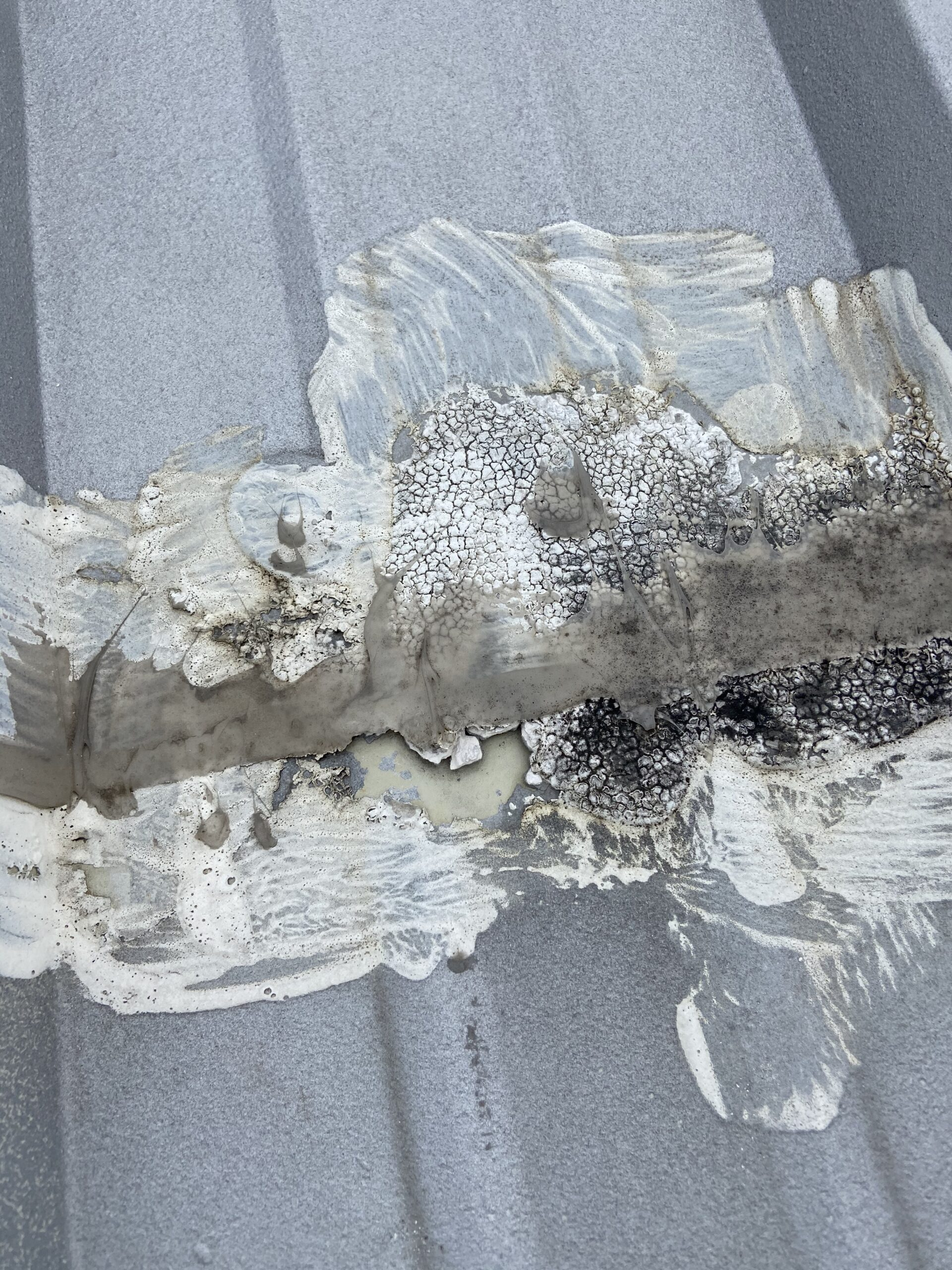Coating on a metal roof That has numerous roof leaks