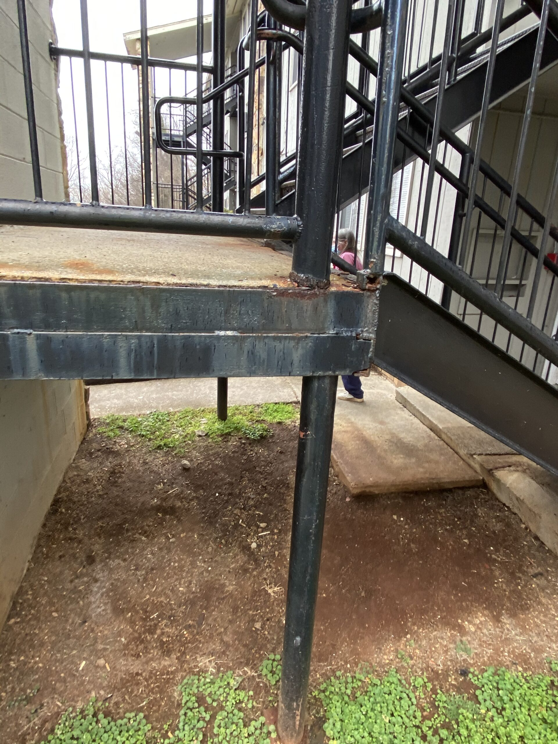 This is a picture of stairwells the litespeed construction is expecting