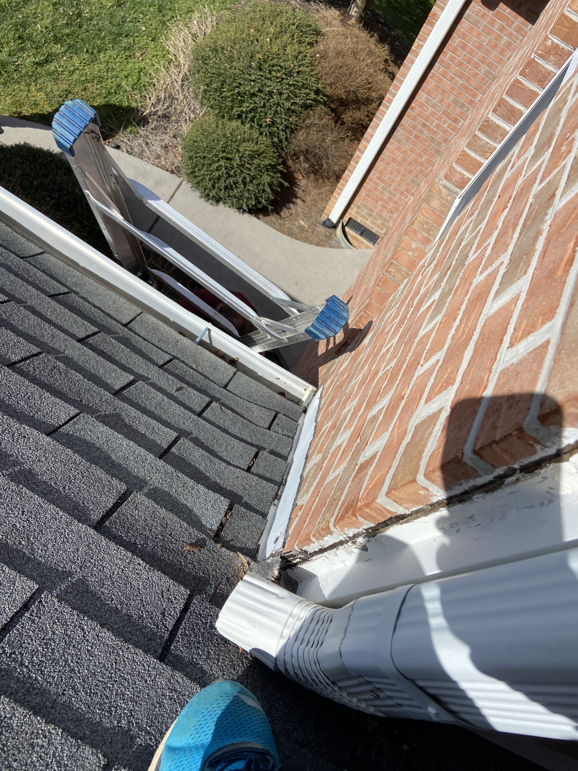 This is a picture of a flashing issue that is causing roof leaks