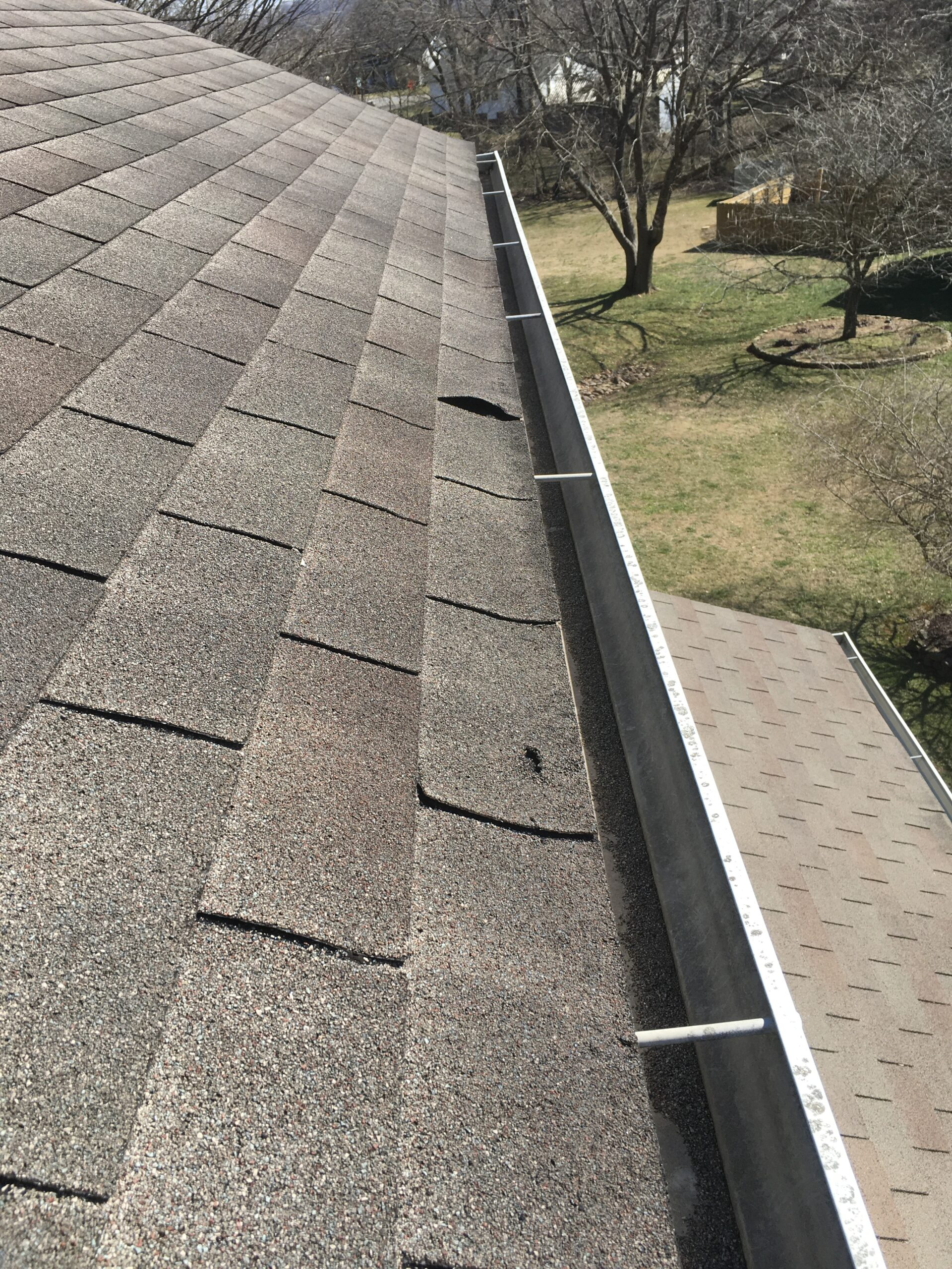 These shingles are beginning to have problems on the edge of this roof