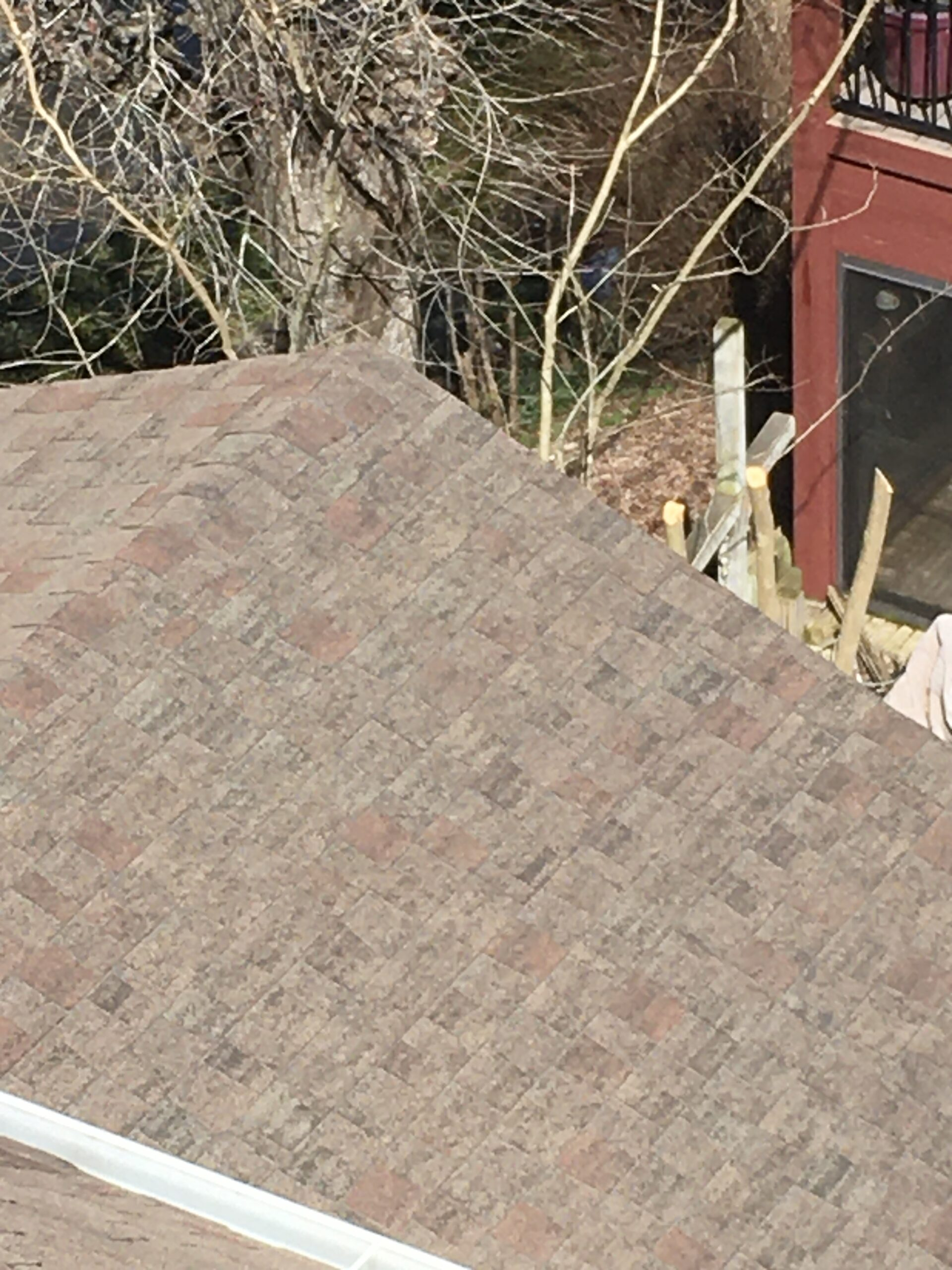 This is a worn out brown shingle