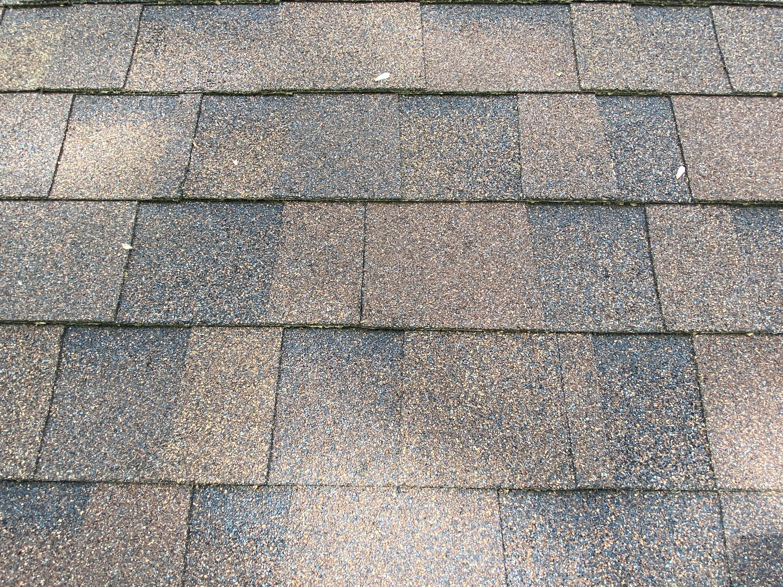 This is a picture of shingles that have been laid out correctly