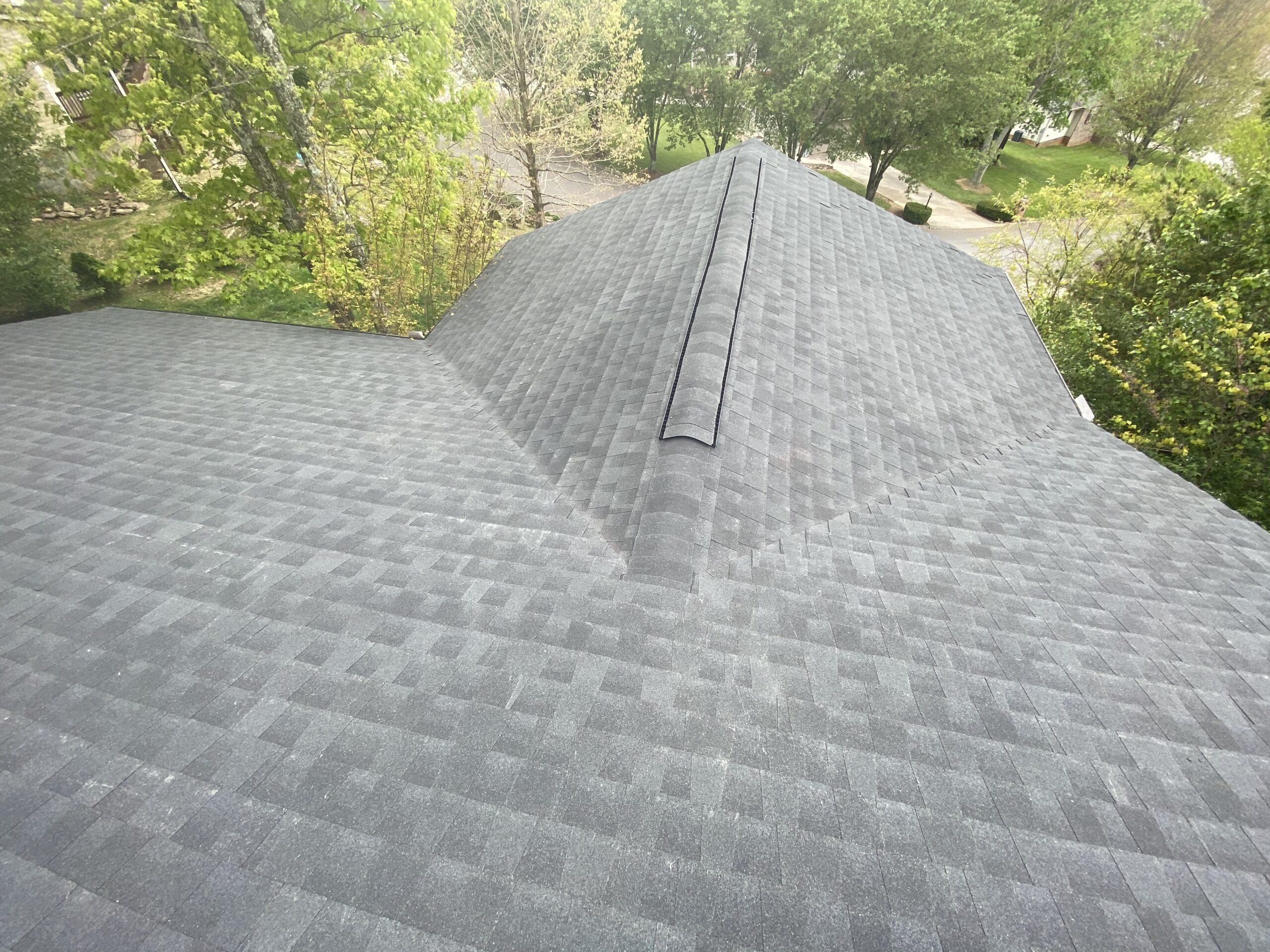 This is a picture of two valleys on a new roof
