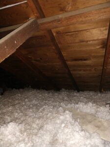 Roof Deck Boards inside of attic