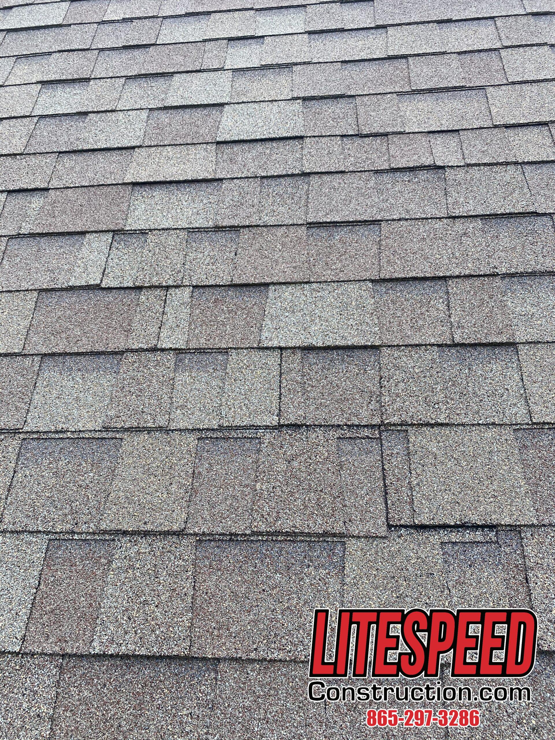 This is a picture of shingles that is appropriately staggered