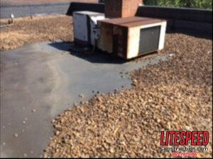 HVAC line penetrations  in old membrane roof