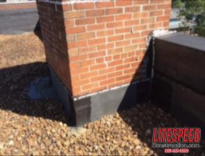 FaILING CHIMney flashing causes leaks and further deterioration