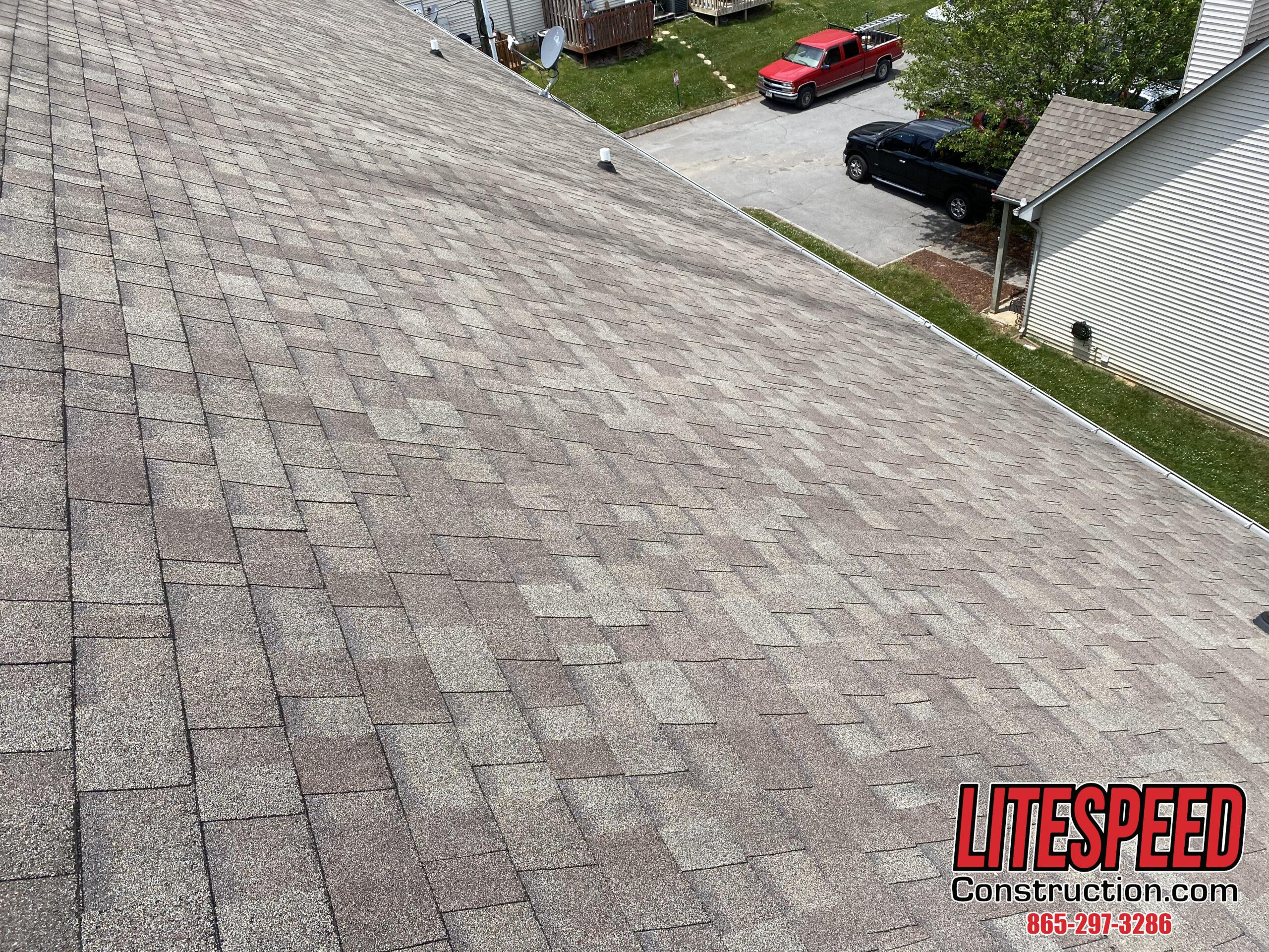 This is a picture of shingles in good shape and staggered correctly