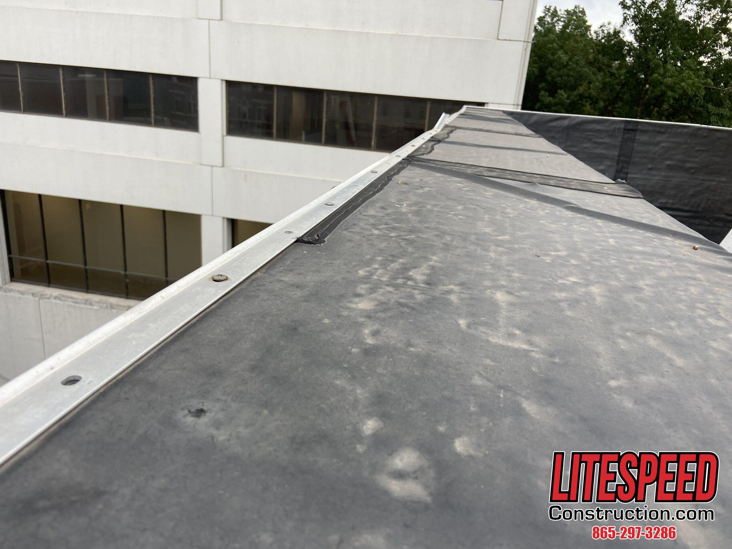 Termination Bar On Commercial Roof is Misinstalled