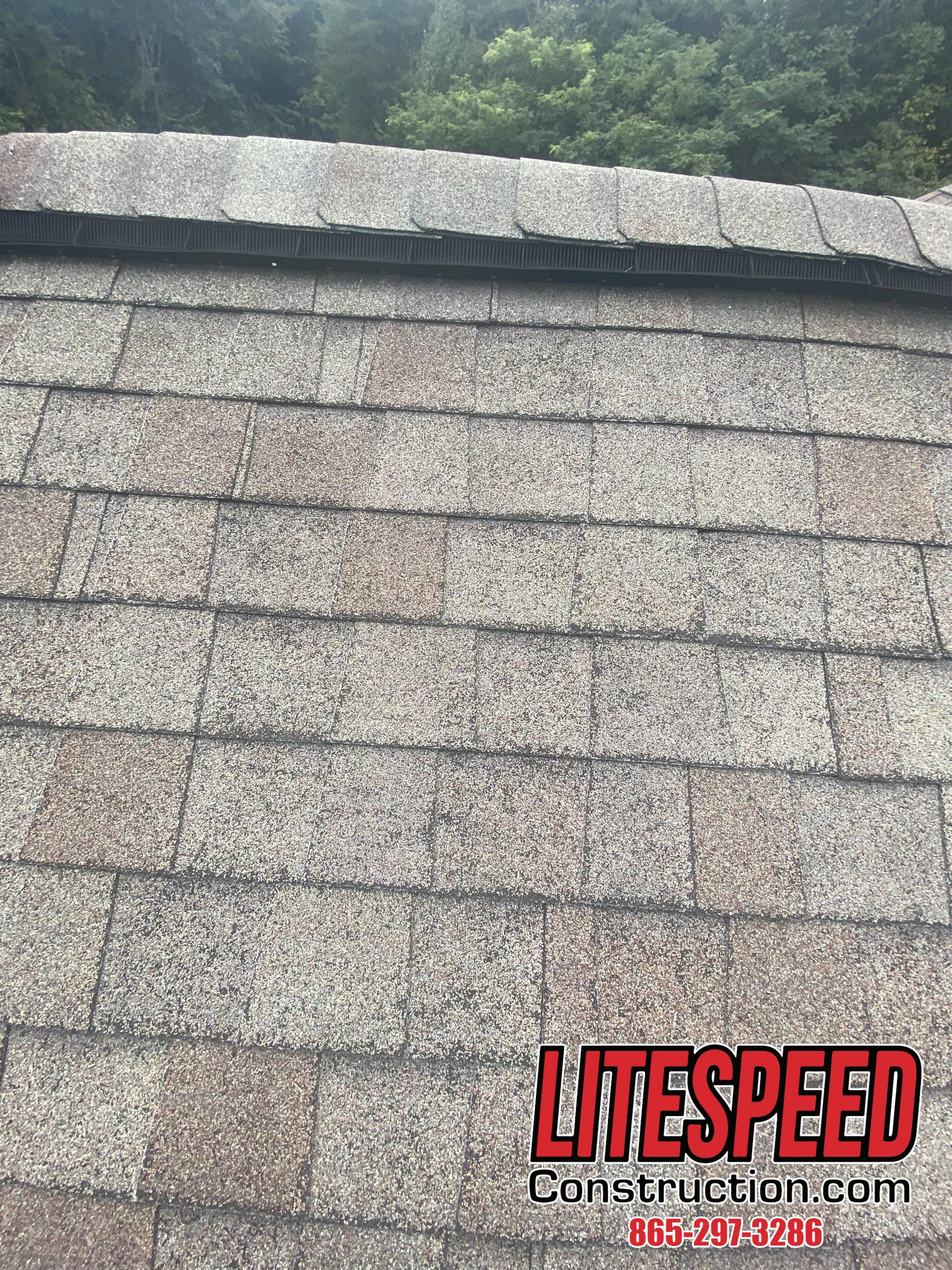 This is a picture of shingles that have been installed correctly