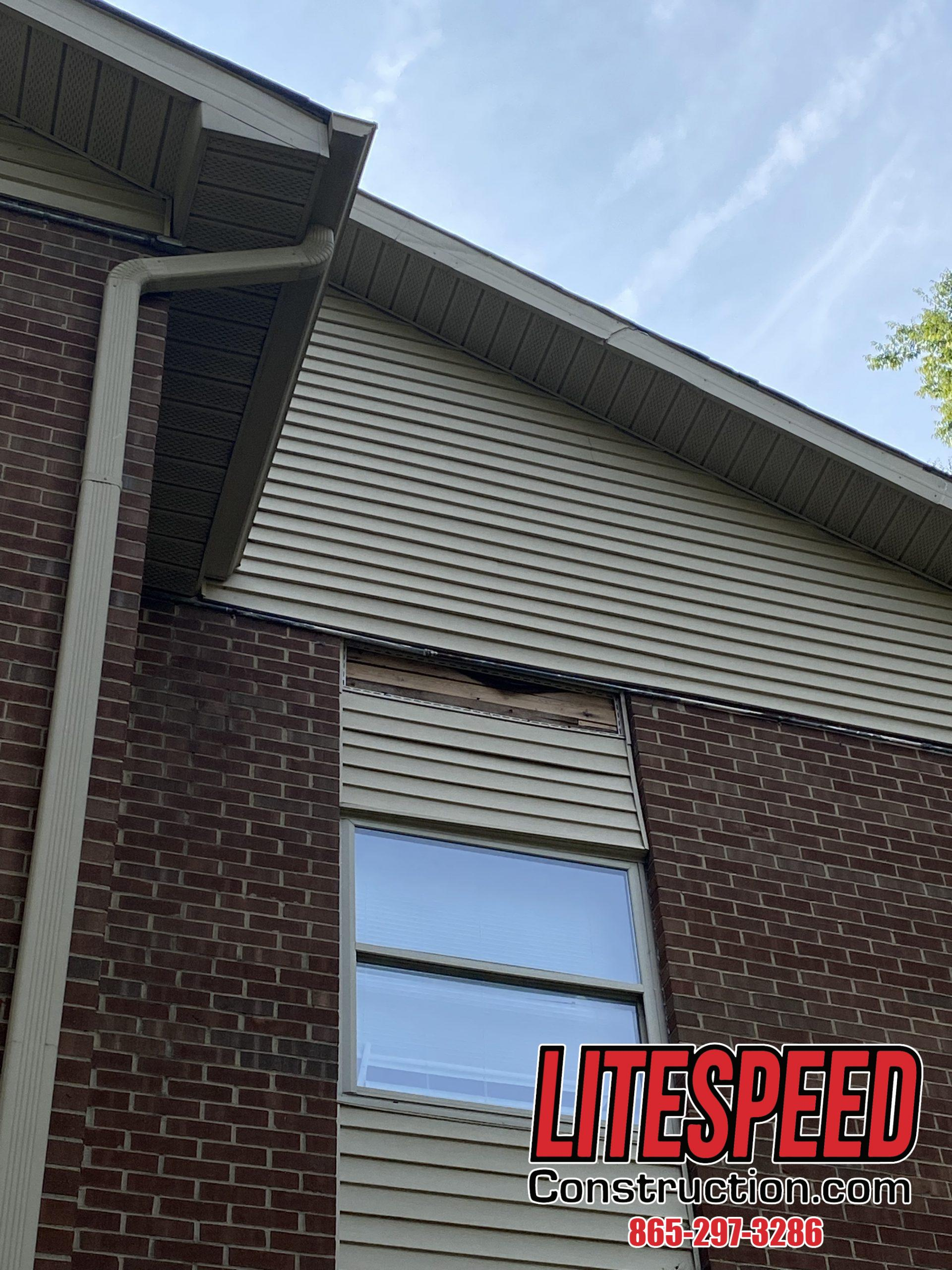 This is a picture of siding that needs to be replaced
