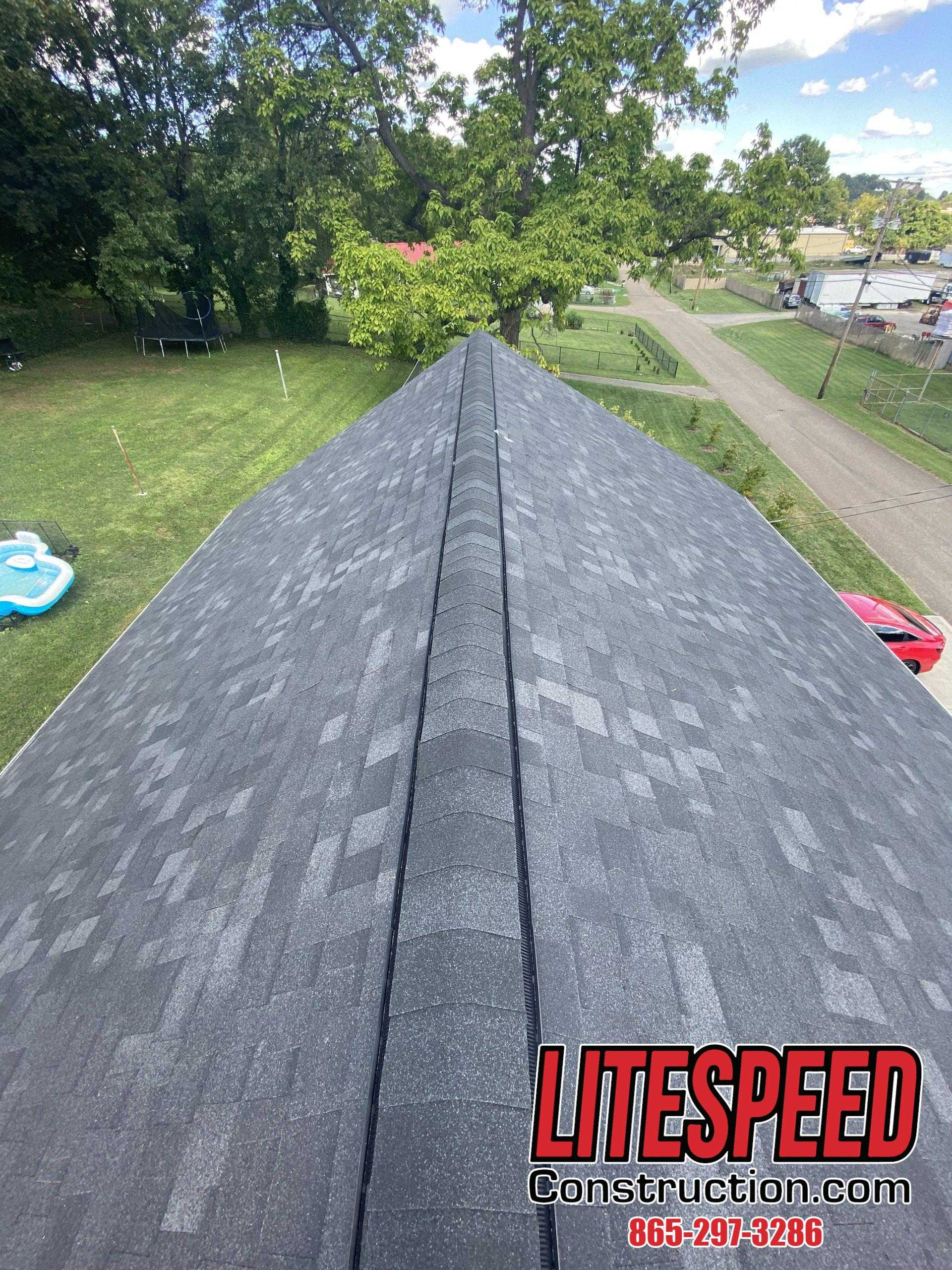 This is a picture of a new onyx black roof ridge vent
